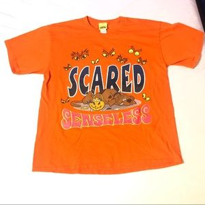 Vintage Scooby Doo Cartoon Network T-Shirt Scared